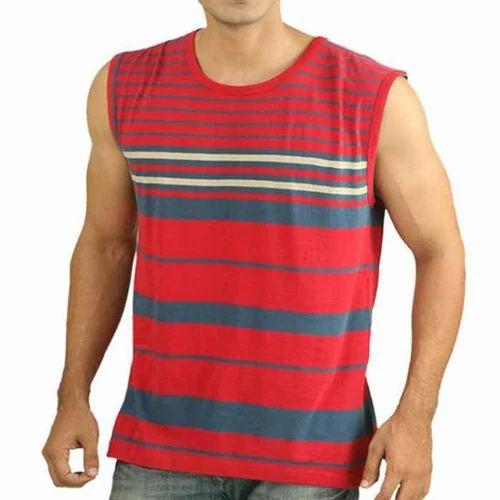 40ea0bdb Men's Sleeveless T-Shirt, पुरुषों की गोल गले की ...