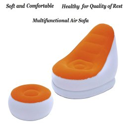 Air Sofa Chair with Stool - (75053)