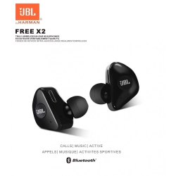 Black Free X2 EarBuds, Headphone Jack: Wireless