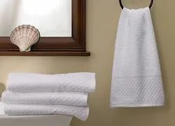 White Plain Hotel Hand Towel, Size: 16 * 27