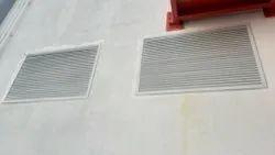 Aluminum Crescent Make Aluminium Powder Coated Louvers With Filters