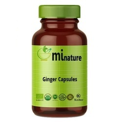 Organic Ginger Powder Organic Pure Ginger Capsules, Packaging Type: Bottle, Grade Standard: Medicine Grade