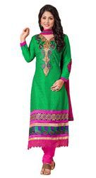 Embroidered Cotton Women's Suit