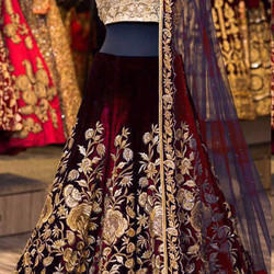 Chanderi Wedding Wear Stitched Suits