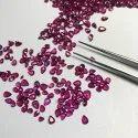 Natural Precious Burma Ruby Faceted Pear Gemstone