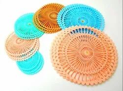 Multicolor Round Shape Table Mat, Packaging Type: Plastic Polythene