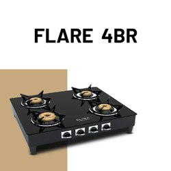 Elisa Toughened Glass FLARE 4BR Gas Stove