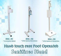Hand Touch Free Foot Operated Sanitizer Stand
