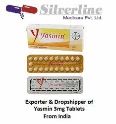 Yasmin 3mg Tablets
