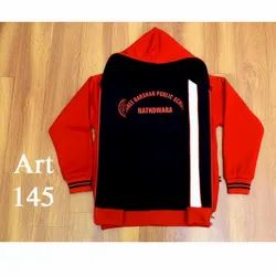 Red School Uniform Fleece Zip Jacket