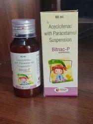 Bitnac P Susp (Aceclofenac With Paracetamol Susp)