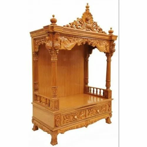 Temple Texas Traditional Home: Brown Traditional Worship Wooden Temple, For Home, Rs