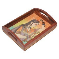 Wooden Gemstone Tray