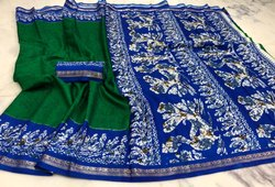 Party Wear Batik Silk Saree