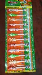 Soft Plastic Minty Junior Kids Toothbrush, For Tooth Cleaning