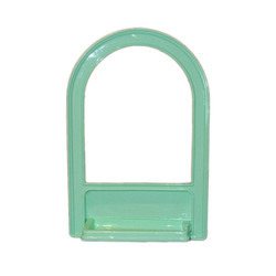 Green Glass Mirror Frame