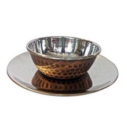 Copper Steel Finger Bowl W Underliner
