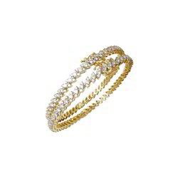 Diamond Bangle Marquise Pressure Setting