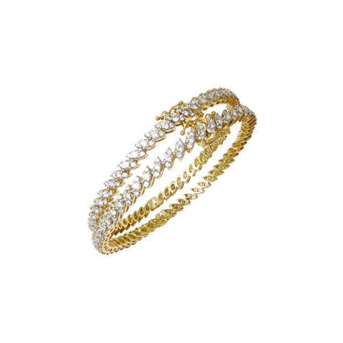 962f163f66 Diamond Bangle Marquise Pressure Setting at Rs 330000 /pair ...