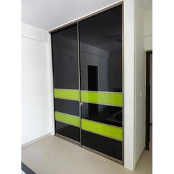 Lacquer Glass Sliding Doors