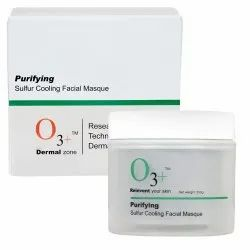 O3 Purifying Sulfur Cooling Facial Mask with Organic Willow Bark and Mint for Acne Mark Removal 350g