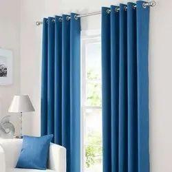 Horizontal Plain Cotton Window Designer Curtain