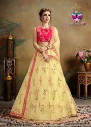 Festive Wear Designer Net Lehenga Choli