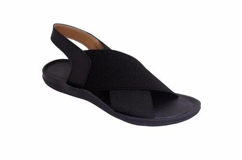 35a60f572 Black Elastic Men  s Sandals
