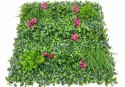 Artificial Grass Wall With Flowers