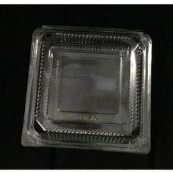 Plastic Square Cake Box