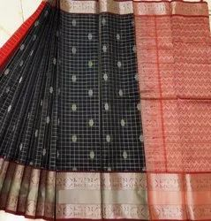 Kanchi Border Kuppadam Silk Cotton Saree