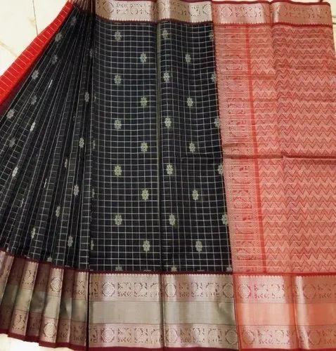 49d15a2f23 Kanchi Border Kuppadam Silk Cotton Saree at Rs 4800 /piece | Anna ...