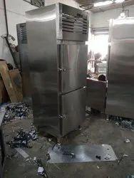 Hanuman Industries Silver 2 Door Vertical Freezer, -25 +- 150 Deg C, Electric