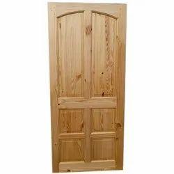 Pine Wood Door With Natural Polish