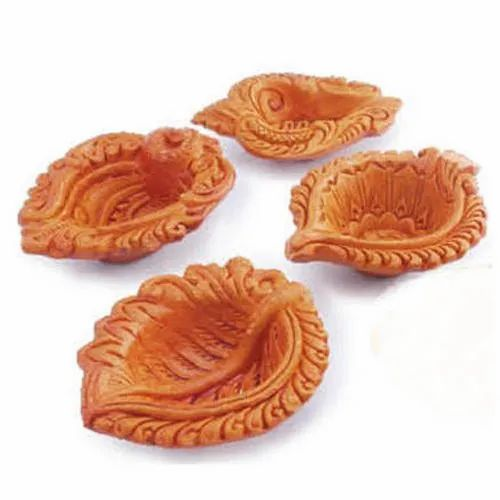 Light Brown Diwali And Festivals Clay Diyas For Diwali, Packaging Type: Packet