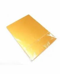 LS Golden Inkjet Card Sheet With Overlay(A4 Size)