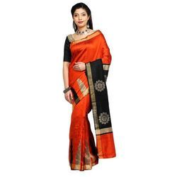 Party Wear Traditional Silk Saree, With Out Blouse Piece