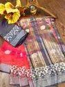 Banarasi Silk Traditional Wear Peach Sarees With Blouse Piece