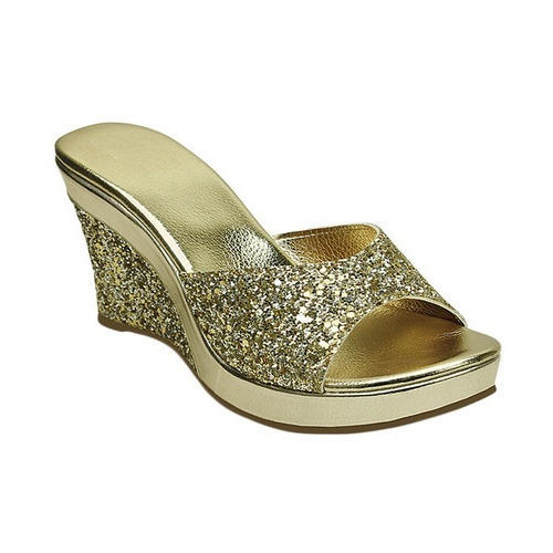 a72e0964db5 Stepee Golden Party Wear Wedge Slippers
