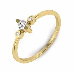 Perrian Jewels Casual WearDiamond Elegant Yellow Gold Designer Ring