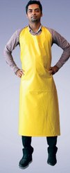 Yellow Plain Apron for Safety & Protection