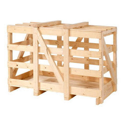 Rectangular Wooden Crate Box, For Industrial