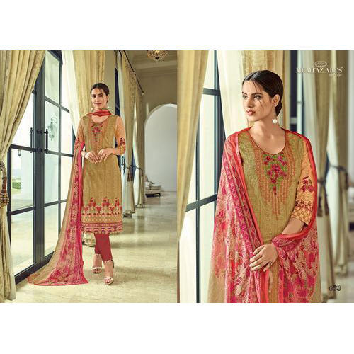 Cotton Printed Semi Stitched Suit