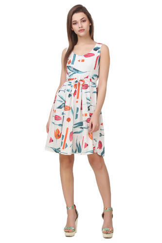 Floral Print Short Dresses