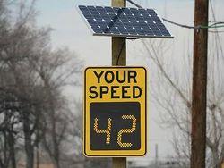 Solar Speed Signage