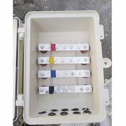 FRP Rectangular 3 Phase aluminium Bus Bar Junction Box, Dimension: 300x200x110 Mm