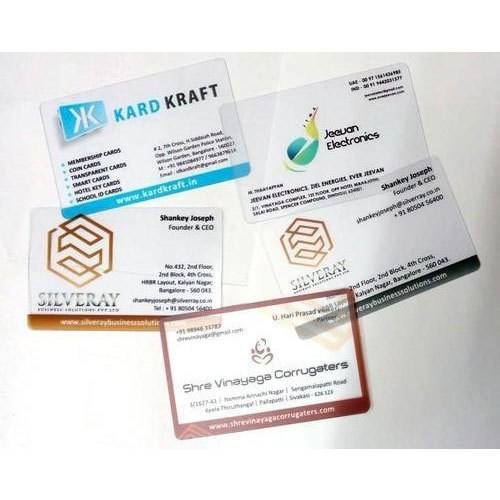 Office transparent business cards size 856 x 54 mm rs 7 piece office transparent business cards size 856 x 54 mm colourmoves