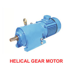 1 Hp Single Phase Helical Gear Motor, 220 V