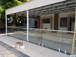 Aluminum Glass Railing Porch