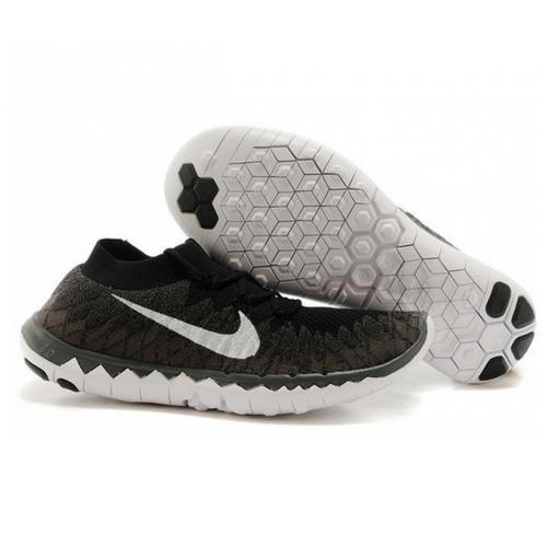 8026bd5595a Nike Free 3.0 Flyknit Black Running Shoes